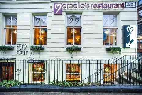 Marcellos Restaurant - Starter, main and glass of Prosecco each for two - Save 62%
