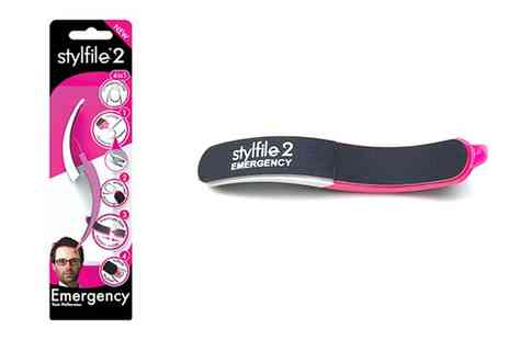 Groupon Goods Global GmbH - One or Two Stylfile 4 in 1 Emergency Nail Files - Save 17%