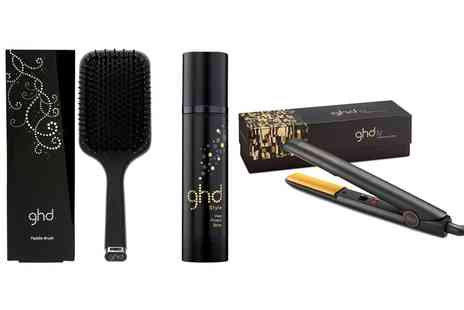 Groupon Goods Global GmbH - GHD IV Styler, Heat Protect Spray, Paddle Brush or All Three - Save 23%