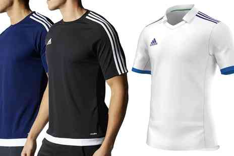 Salvador COmpany - One, Two or Three Adidas Mens Volzo or Estro TShirts and Parma Shorts - Save 0%