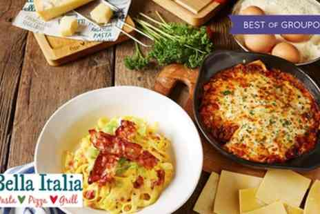 Bella Italia - Two Course Italian Meal for Two or Four Valid from 24th April - Save 58%