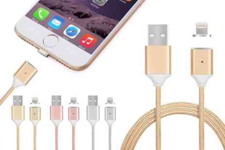 Groupon Goods Global GmbH - Magnetic Charging Cable with Lightning or Micro USB Connector for Apple and Android Devices - Save 60%