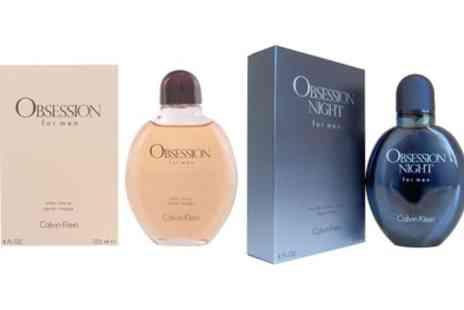 Groupon Goods Global GmbH - Calvin Klein Obsession 125ml Aftershav Or Night EDP Spray for Men - Save 40%