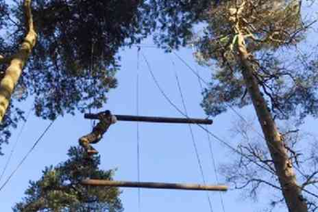 Adrenalin North Yorkshire - High Ropes Confidence Course for Up to Four - Save 50%