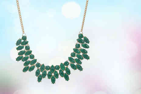 Your Ideal Gift - An emerald colour statement necklace - Save 77%