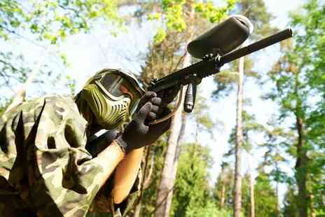 Paintball Park - Paintballing day for up to 10 people with 100 paintballs each and a hot lunch - Save 94%