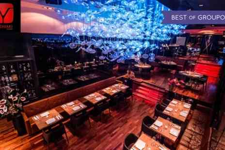 Dstrkt - 2 AA Rosette Pan Asian Dining Experience with a Champagne Cocktail for Up to Six - Save 60%