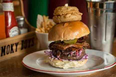 Smoky Boys - £20 Towards Build Your Own Burger for Two - Save 50%
