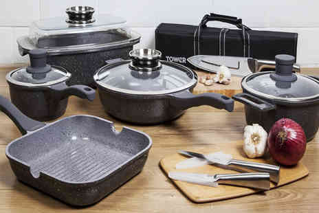 Deals Direct - 16 piece Cerastone tower die cast pan set - Save 41%