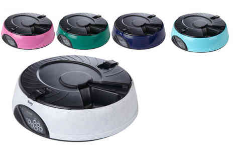 LaRoc - An automatic six day pet feeder choose from five colours - Save 31%