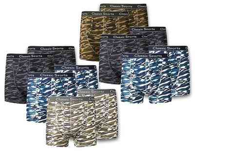 Stitch Trading -12 pack of mens camo boxers - Save 29%