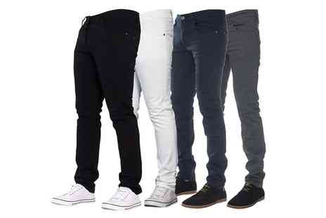 Groupon Goods Global GmbH - Enzo Jeans Skinny Stretch Chinos - Save 35%