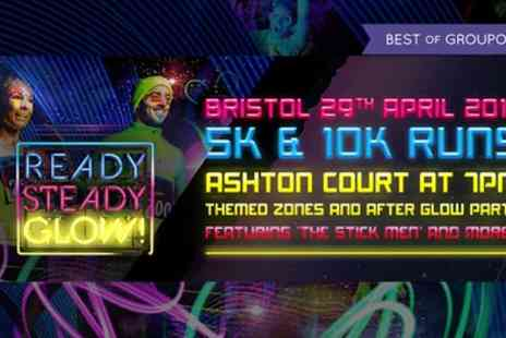 Ready Steady Glow - One ticket to Ready Steady Glow 5K or 10K run on 29 April - Save 32%