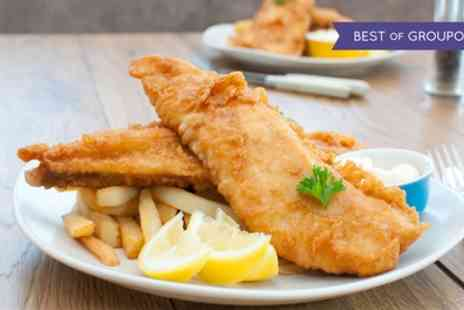 Poopdeck Restaurant - Fish and Chips, Peas, Bread and Butter with Tea and Soft Drink for Up to Four - Save 46%
