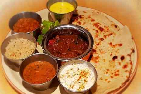 Urban Choola - Indian Thali Platter with Rice, Naan and Sweets for Two - Save 46%