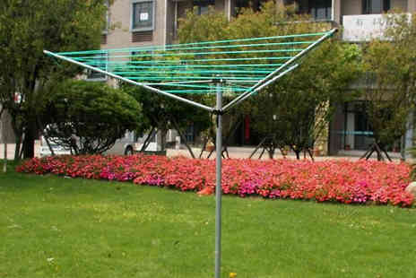 Groundlevel - Rotary Clothes Airer 30m or 50m - Save 58%