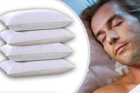 Groundlevel - Goose Feather and Down Pillows One or Two Pairs - Save 63%