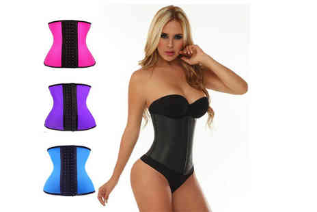 Snap One Up - Latex and steel bone waist training corset choose from four fabulous colours and six sizes - Save 67%