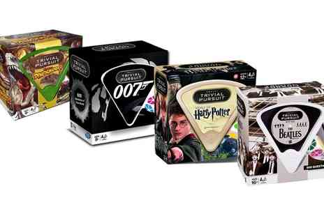 Groupon Goods Global GmbH - Trivial Pursuit The Beatles, James Bond 007, Harry Potter or The World of Dinosaurs Edition - Save 31%