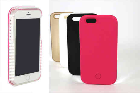 Deals Direct - An iPhone 6,6s,6 Plus, 6s Plus selfie LED light case - Save 25%