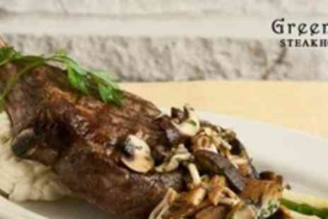 Greenans Steakhouse - Two Course Steak Meal For Two With Wine - Save 54%