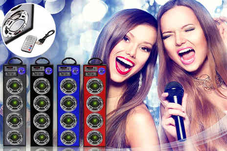 TLD Marketing - Two speaker Bluetooth karaoke system - Save 72%
