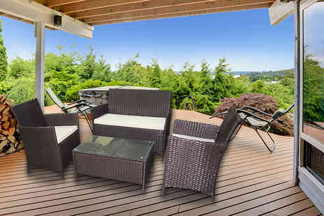 Evre - Four piece rattan garden or conservatory furniture set with a limited number available - Save 81%
