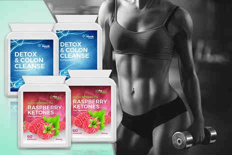 ProMuscle Products - One month supply of raspberry ketones and detox and colon cleanse tablets - Save 70%