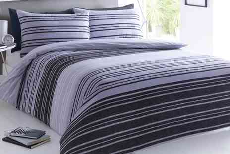 Groupon Goods Global GmbH - Textured Stripe Duvet Cover Set - Save 74%
