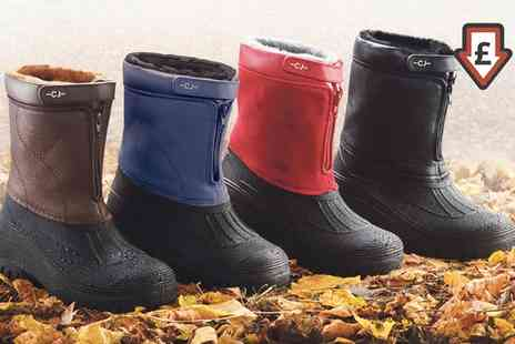Groupon Goods Global GmbH - Fleece Lined All Weather Boots in Choice of Colour - Save 71%
