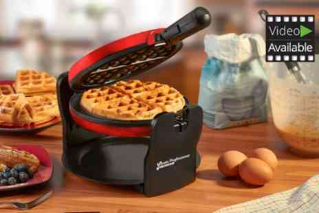 Groupon Goods Global GmbH - Cooks Professional Luxury Rotary Waffle Maker in Choice of Colour - Save 64%