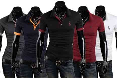 Groupon Goods Global GmbH - Two Mens Short Sleeved Polo Shirts - Save 74%