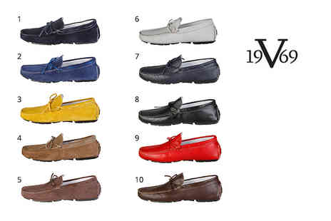IDT Spa - Pair of Versace 1969 mens loafers choose from two styles and 10 colours - Save 63%
