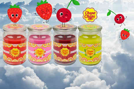 GB Gifts - Large 16oz scented candle jar choose from Skittles, Chupa Chups and Love Hearts flavours - Save 50%