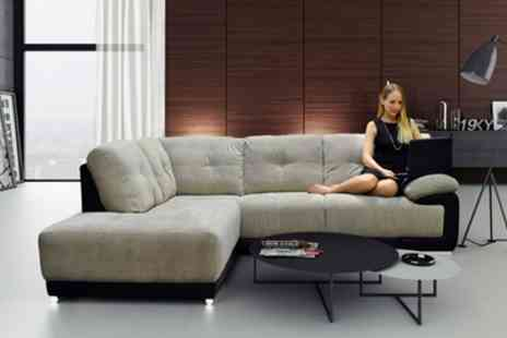 Groupon Goods Global GmbH - Alexis Fabric Corner Sofa With Free Delivery - Save 53%