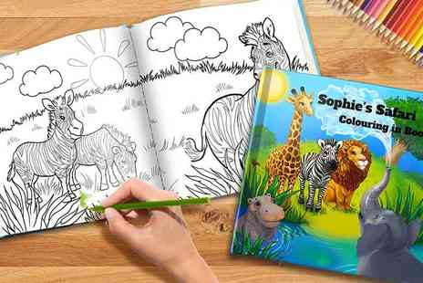 Eastmon Online - Soft cover personalised kids colouring book or a hard cover - Save 65%