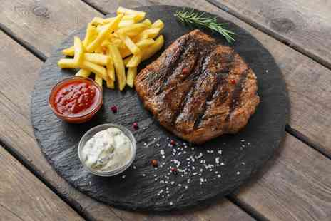 Collage Restaurant - Steak dining for two with a glass of wine each - Save 44%