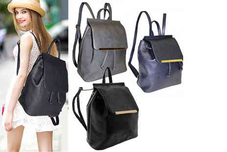 Pearl Info - Womens rucksack choose from two styles in black, grey or navy - Save 56%