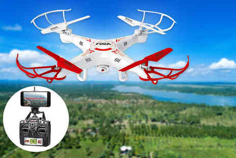 Craze UK - D15 F quadcoptor stunt drone with live camera feed - Save 61%