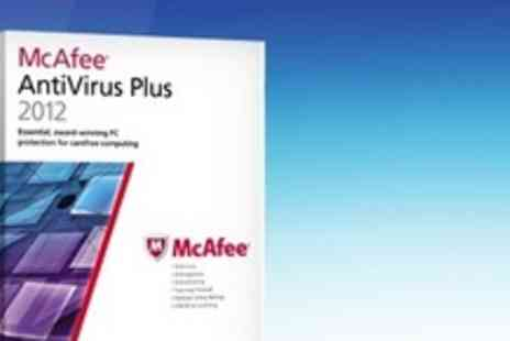 McAfee - Two Year Subscription of McAfee AntiVirus Plus 2012 For Three Computers - Save 80%