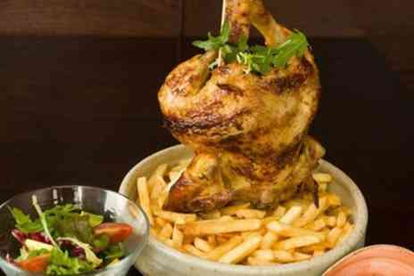 Grillado - Rotisserie Chicken Meal with Starters, Chips and Dips for Two or Four - Save 53%