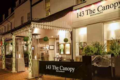 The Canopy Restaurant - Hot Stone Steak or Fish Meal for Two or Four - Save 52%
