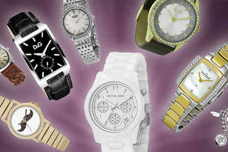 Jewellery Bank - Womens Mystery Watch Michael Kors, D&G, Moschino, FCUK and More - Save 0%