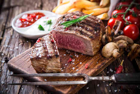 Townhouse Hotel - Steak dining for two with a glass of wine each - Save 59%