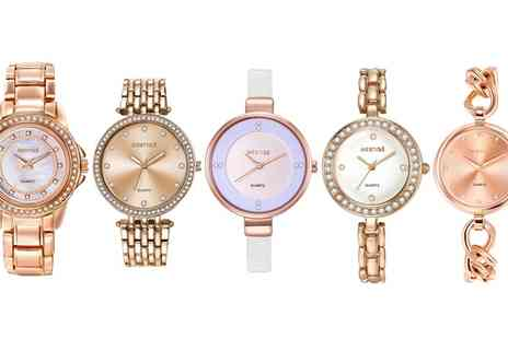 Neverland Sales - Selection of Womens Rose Gold Mestige Watches with Crystals - Save 80%