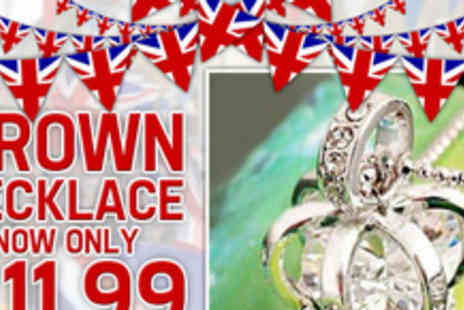 Smart Lass - A gem of a deal a limited edition crown necklace perfect for the Diamond Jubilee - Save 60%