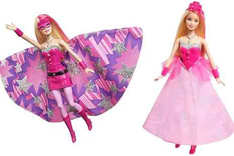 Groupon Goods Global GmbH - Barbie in Princess Power Super Sparkle Two in One Doll - Save 39%
