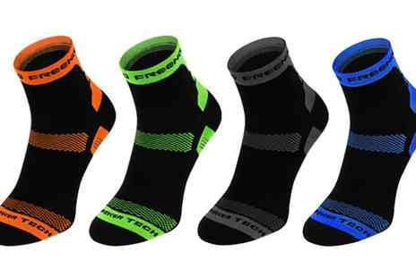 Groupon Goods Global GmbH - Four or Eight Pack of Compression Socks in Choice of Size - Save 0%