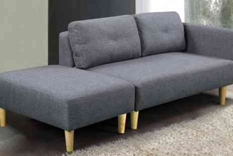 Groupon Goods Global GmbH - Cavendish Two Seater Sofa with Footstool in Choice of Colour - Save 32%