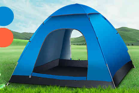 Goods Direct - Three Man Pop Up Tent Available in Two Colours - Save 71%